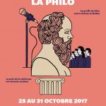 Les journées de la philo<br>25 au 31 octobre