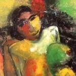 Olena Polonska expose ses toiles<br>à la bibliothèque