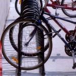 Attention : Cyclistes<br>les supports à vélo remisés pour l&rsquo;hiver