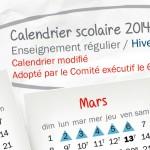 Modification du calendrier scolaire :<br>reprise des cours