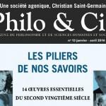 Deux enseignants de philosophie publient<br>dans Philo&Cie