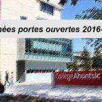 Journées portes ouvertes 2016-2017