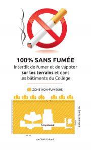 Le Collège : zone 100 % sans fumée et des outils pour cesser de fumer