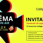 Invitation : cinéma en plein air<br>C.R.A.Z.Y. / 29 septembre – 19 h