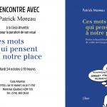 Rencontre avec Patrick Moreau le 24 octobre