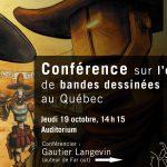 Conférence sur l'édition de bandes dessinées au Québec